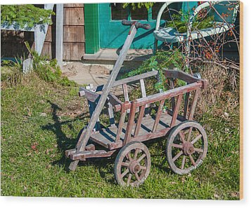 Old Wagon Wood Print by Guy Whiteley