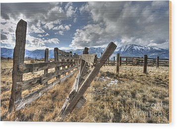 Old Washoe Corral Wood Print by Dianne Phelps