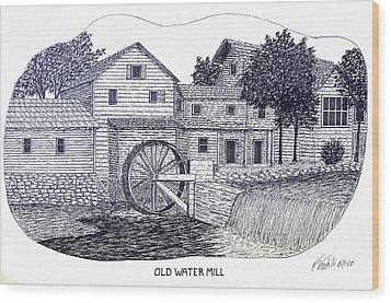 Old Water Mill Wood Print by Frederic Kohli