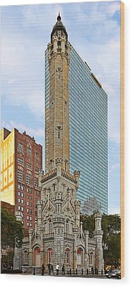 Old Water Tower Chicago Wood Print by Christine Till
