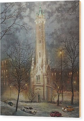 Old Water Tower Milwaukee Wood Print by Tom Shropshire