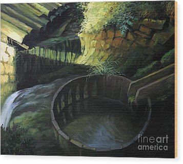 Old Watermill Wood Print by Kiril Stanchev