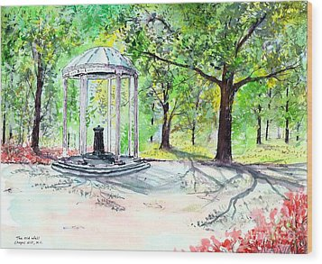 Old Well Chapel Hill Wood Print