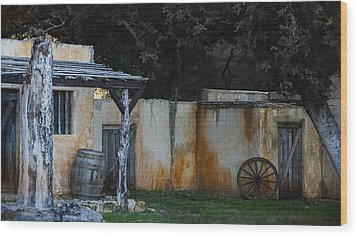 Old West Ghost Town Wood Print by Kelly Rader