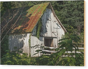 Old Whitewashed Barn In Tennessee Wood Print