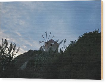 Old Wind Mill 1830 Wood Print by George Katechis