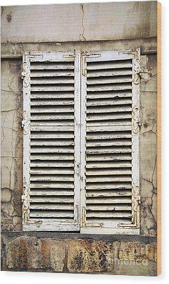Old Window Wood Print by Elena Elisseeva