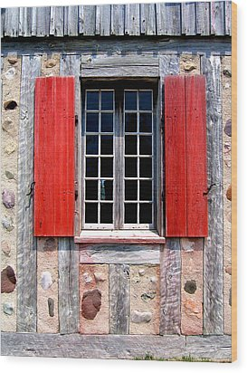 Wood Print featuring the photograph Old Window Fort Michilimackinac Michigan by Mary Bedy