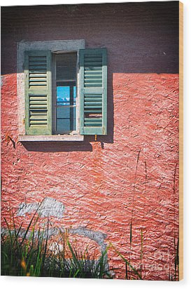 Wood Print featuring the photograph Old Window With Reflection by Silvia Ganora