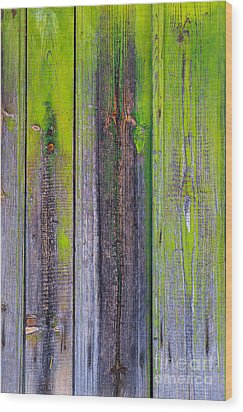 Old Wooden Background Wood Print by Carlos Caetano