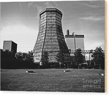 Old Wooden Cooling Tower Wood Print by Andy Prendy