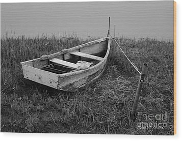 Old Wooden Rowboat II Wood Print by Dave Gordon
