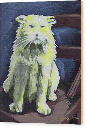 Old World Cat Wood Print