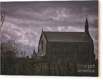 Old World Church Wood Print by Kate Purdy