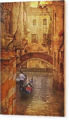 Old World Gondola Wood Print