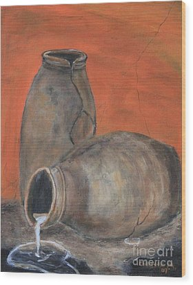 Old World Pottery Wood Print by Christie Minalga