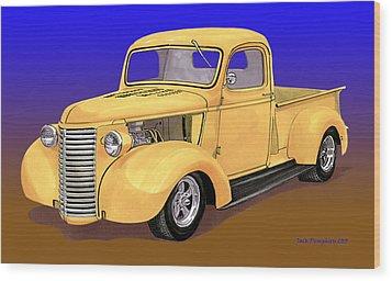 Old Yeller Pickem Up Truck Wood Print by Jack Pumphrey