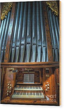 Olde Church Organ Wood Print by Adrian Evans
