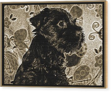 Olde World Canine Wood Print by Brian Graybill