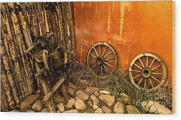 Olden Days Wood Print by Claudette Bujold-Poirier