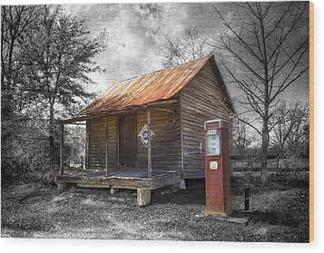 Olden Days Wood Print by Debra and Dave Vanderlaan