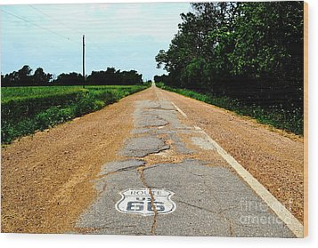 Wood Print featuring the photograph Oldest Stretch Of Route 66 by Utopia Concepts