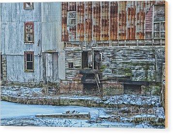 Oldmill Wood Print by Tamera James