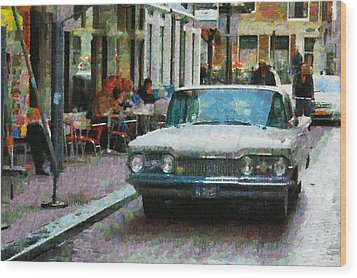 Oldsmobile In Amsterdam Wood Print