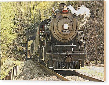 Wood Print featuring the photograph Ole' #630 Steam Train by Tammy Schneider