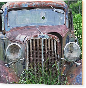 Ole Chevy Wood Print by Leon Hollins III
