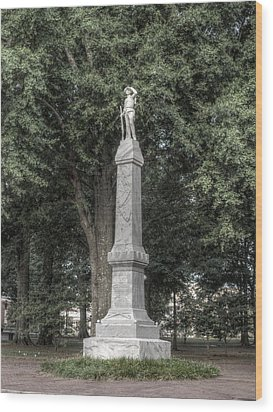 Ole Miss Confederate Statue Wood Print by Joshua House
