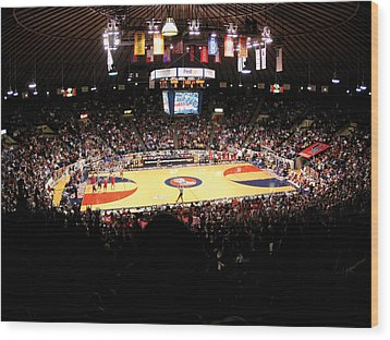 Ole Miss Rebels C.m. 'tad' Smith Coliseum Wood Print by Replay Photos