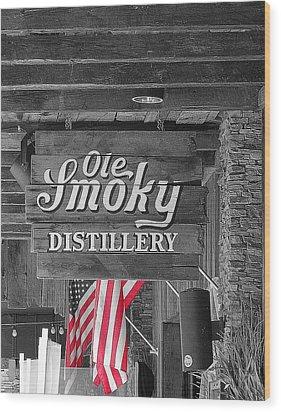 Ole Smoky Distillery Wood Print by Dan Sproul