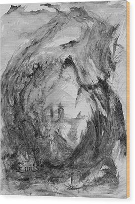 Ole Toothy Wings Wood Print by Christophe Ennis
