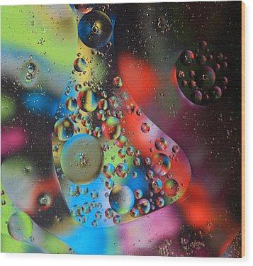 Olej I Woda 4 Wood Print by Joe Kozlowski
