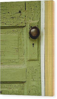 Olive Door Wood Print