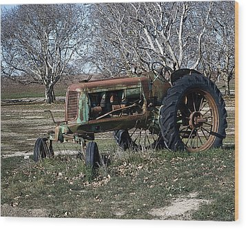 Wood Print featuring the photograph Oliver Farm Tractor by William Havle