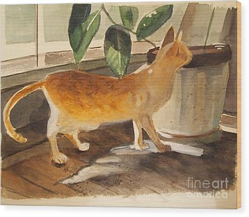 Oliver Wood Print by Nancy Kane Chapman