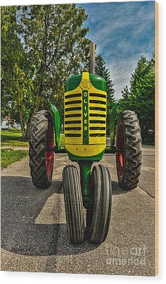 Wood Print featuring the photograph Oliver Row Crop Ogdensburg Puller by Trey Foerster