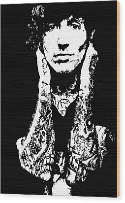 Oliver Sykes Wood Print