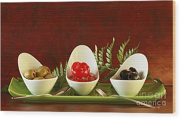 Olives Anyone Wood Print by Inspired Nature Photography Fine Art Photography