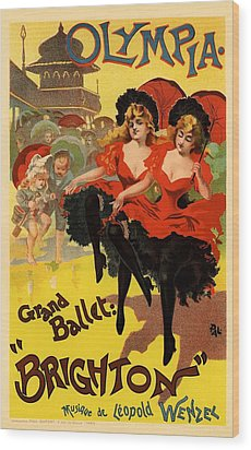 Olympia Grand Ballet Brighton Wood Print by Gianfranco Weiss