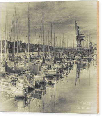 Wood Print featuring the photograph Olympia Marina 3 by Jean OKeeffe Macro Abundance Art