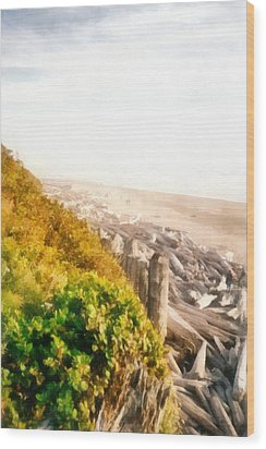 Olympic Peninsula Driftwood Wood Print by Michelle Calkins