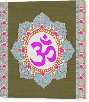 Wood Print featuring the photograph Om Mantra Ommantra 3 by Navin Joshi