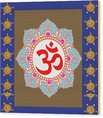 Wood Print featuring the photograph Om Mantra Ommantra Chant Yoga Meditation Tool by Navin Joshi