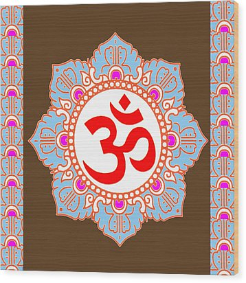 Wood Print featuring the photograph Om Mantra Ommantra by Navin Joshi