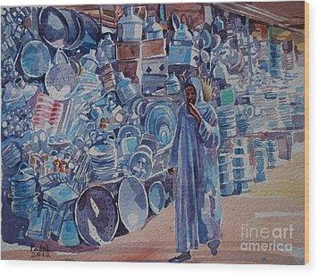 Omdurman Markit Wood Print by Mohamed Fadul