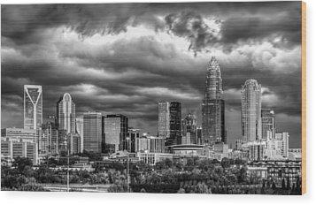 Ominous Charlotte Sky Wood Print by Chris Austin