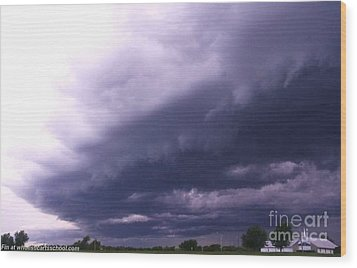 Ominous Clouds Wood Print by PainterArtist FIN